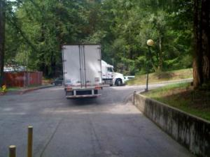 Big Truck Stuck at JBEB Loading Dock